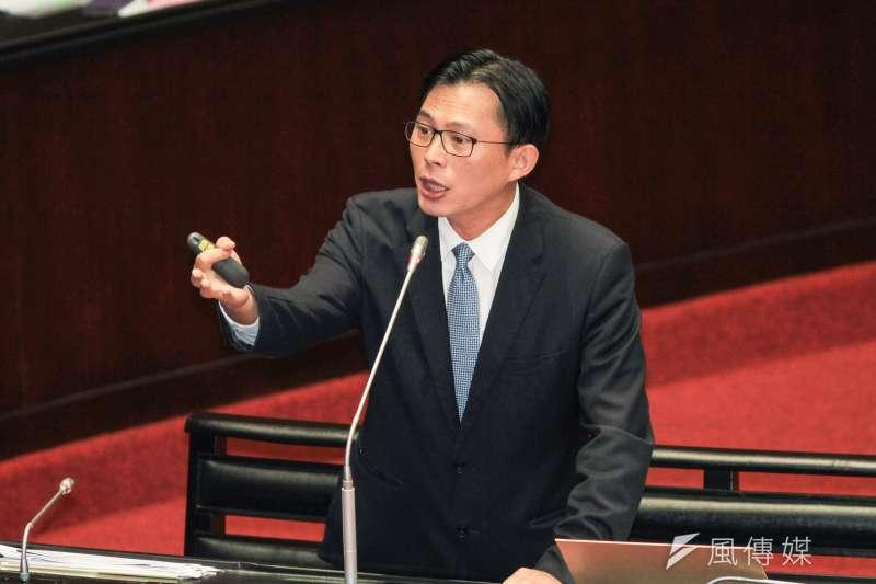 20190927-立法院27日舉行9屆8會期第三次會議,立委黃國昌進行質詢。(蔡親傑攝