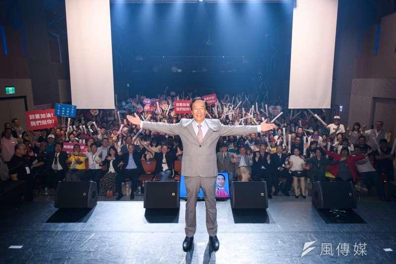 鴻海創辦人郭台銘表示,他雖然退出2020年總統大選,但只是轉換一個戰場,未來將以行動支持立委選舉。(永齡基金會提供)