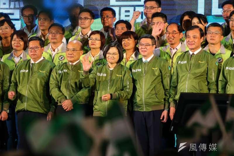 民進黨「抗中保台」只是選舉騙術?圖為民進黨全代會。(顏麟宇攝)