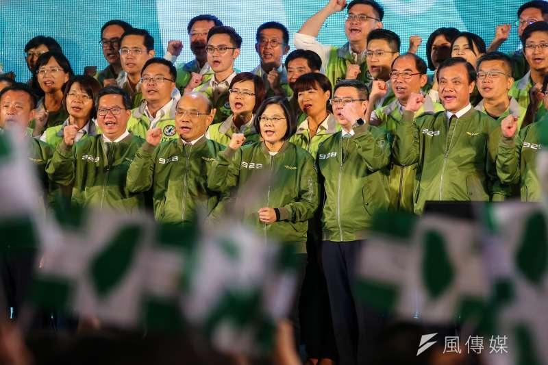 民進黨堅持仇中對抗路線,台灣活路被逼到最窄。(顏麟宇攝)