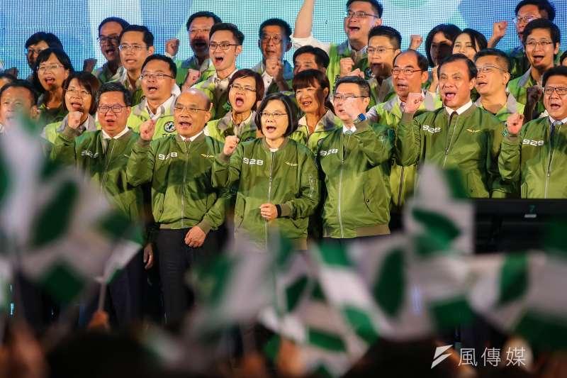 總統蔡英文出席民進黨全代會。(顏麟宇攝)