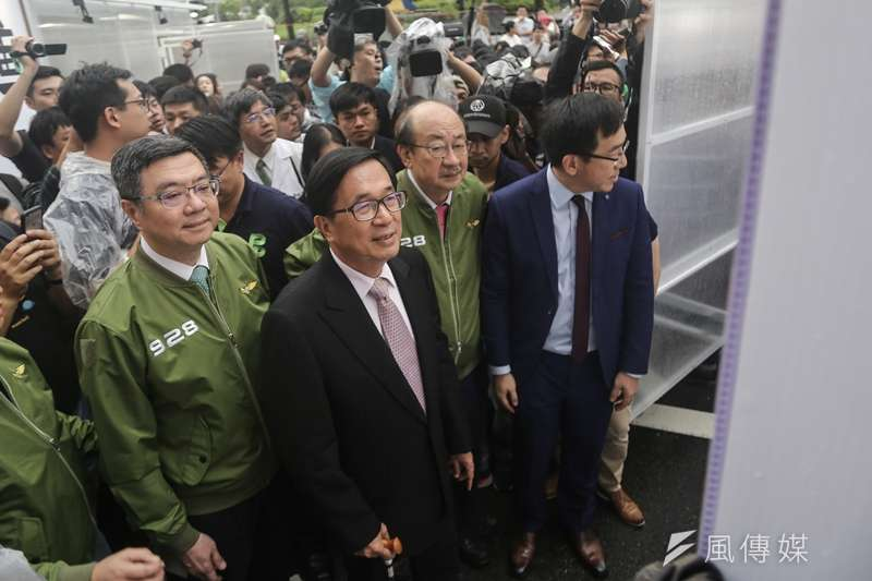 20190928-前總統陳水扁出席民進黨33週年黨慶。(陳品佑攝)