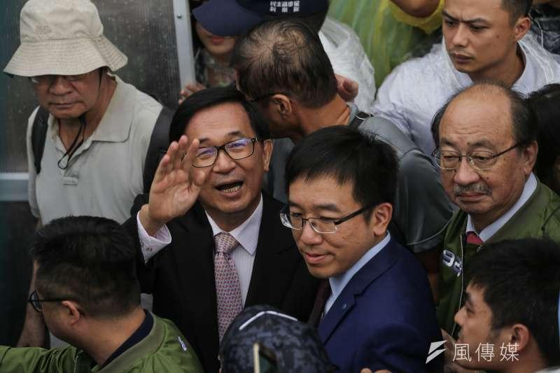 20190928-前總統陳水扁出席民進黨33週年黨慶臺灣派對。(陳品佑攝)
