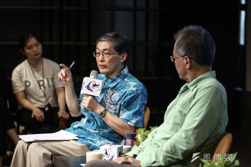 龍應台基金會舉辦【家園2030:地球已經走到什麼地步?】講座,圖為講者前環保署長魏國彥。(陳品佑攝)