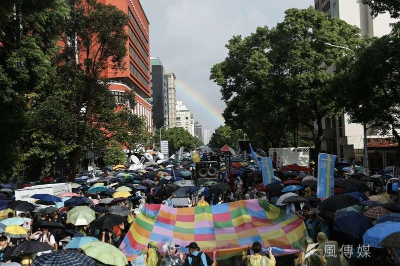 20190929- 「撐港.反極權!」遊行於台北舉行。(簡必丞攝)