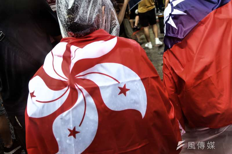 2019年9月29日,許多公民團體與政黨出席「929台港大遊行:撐港.反極權」。(資料照,簡必丞攝)