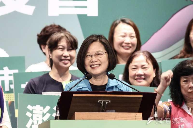 20190929-總統蔡英文出席2020蔡英文連任全國護理師後援會成立大會活動。(陳品佑攝)