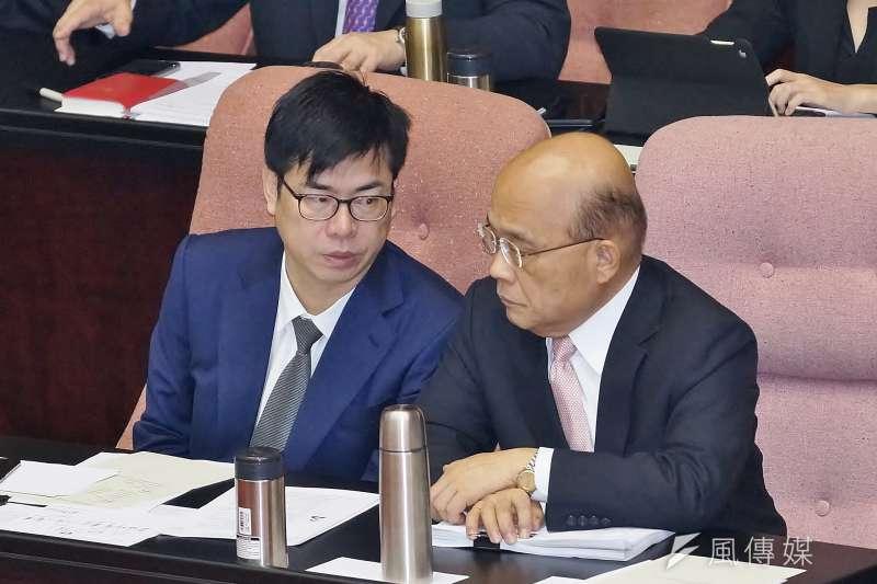 20191001-行政院長蘇貞昌、副院長陳其邁赴立法院備詢。(盧逸峰攝)