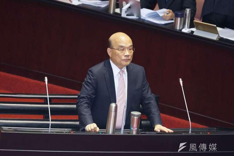 20191001-行政院長蘇貞昌赴立法院備詢。(盧逸峰攝)