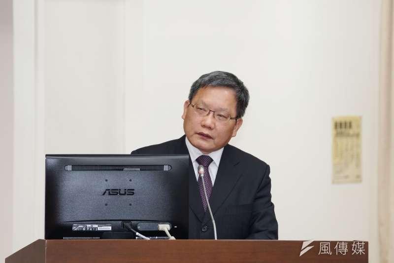 20191002-財政部長蘇建榮於財政委員會備詢。(盧逸峰攝)