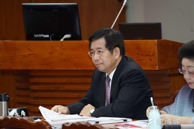 20191002-教育部長潘文忠於教育文化委員會備詢。(盧逸峰攝)
