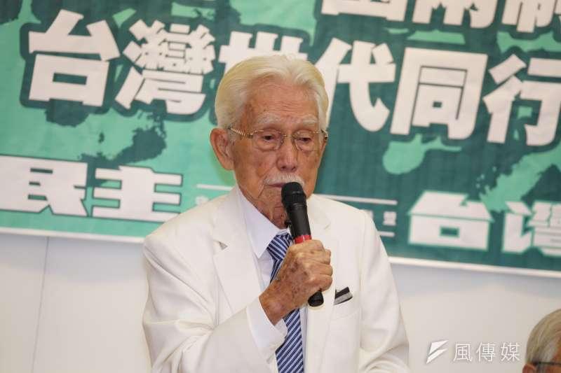 台灣制憲基金會董事長辜寬敏(見圖)10日證實,曾建議前立法院長王金平另組「台灣民國黨」。(盧逸峰攝)