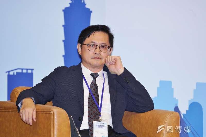 20191003-和碩董座童子賢出席玉山科技年會。(盧逸峰攝)