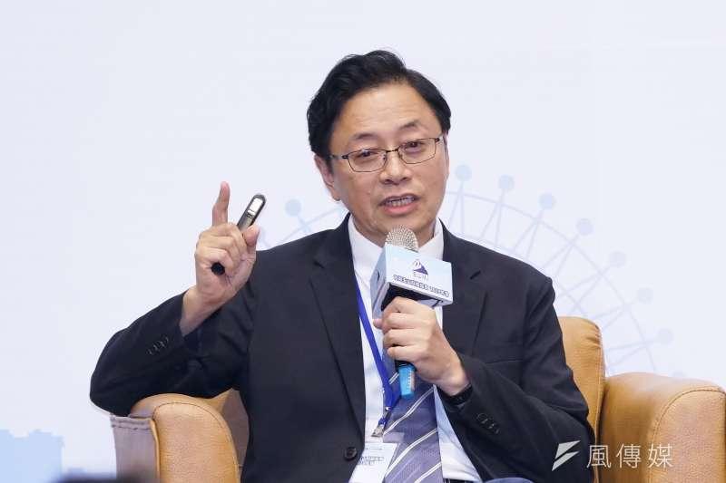 20191003-前行政院長張善政出席玉山科技年會。(盧逸峰攝)