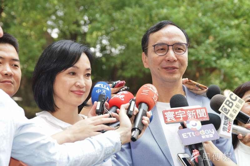 20191003-立委柯志恩、前新北市長朱立倫接受聯訪。(盧逸峰攝)