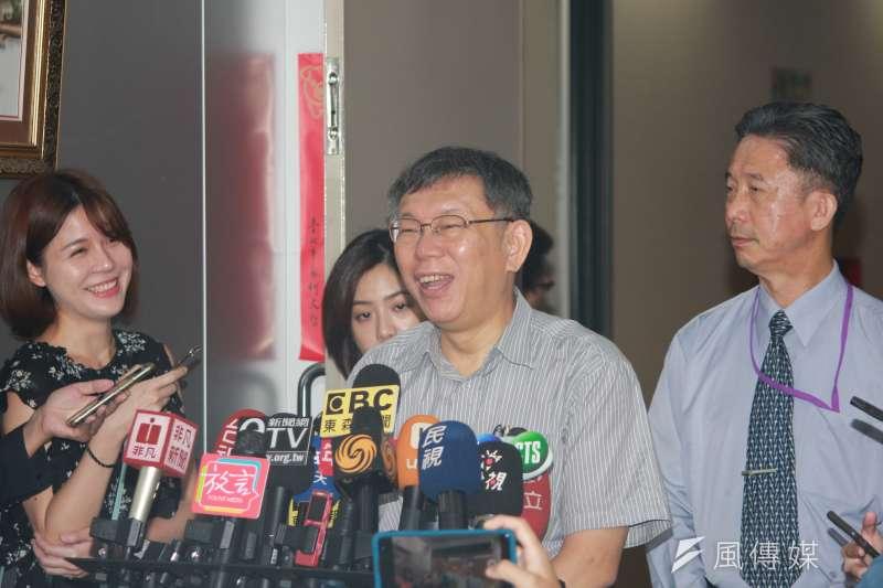 台北市長柯文哲回應當前政局相關問題。(資料照片,方炳超攝)