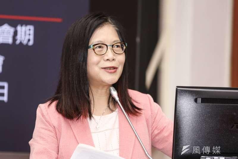 民進黨立委管碧玲5日表示,若罷韓最終順利通過,台灣政治將產生3個重大效應。(資料照,簡必丞攝)