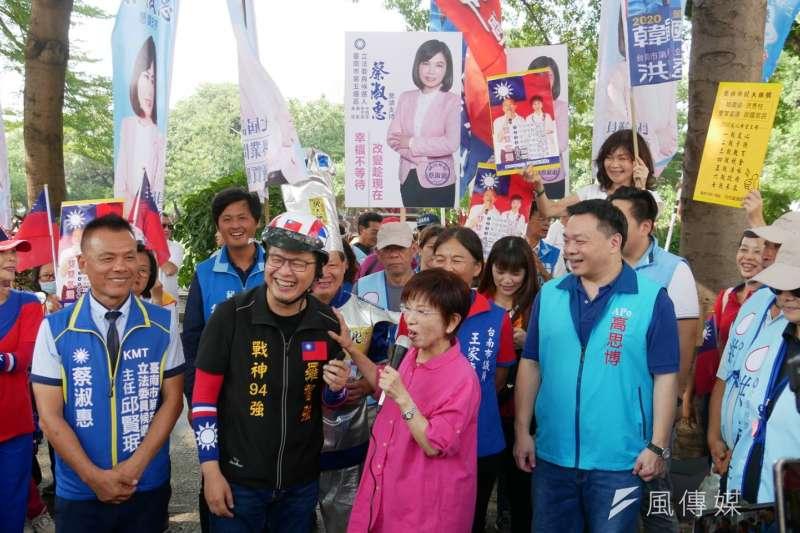 20191004-前國民黨主席洪秀柱「柱柱姐」此次將投入台南市第6選區選戰,挑戰現任立委王定宇。(潘維庭攝)