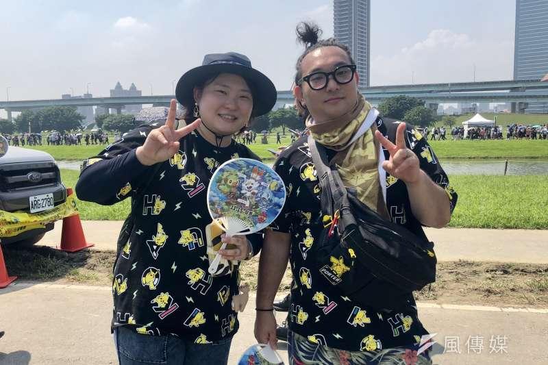 全台唯一的《Pokémon GO Safari Zone in New Taipei City》活動今(4)日邁入第二天,吸引來自日本等四成多國外的訓練家,不畏豔陽賣力捕捉寶可夢。  (圖/李梅瑛攝)