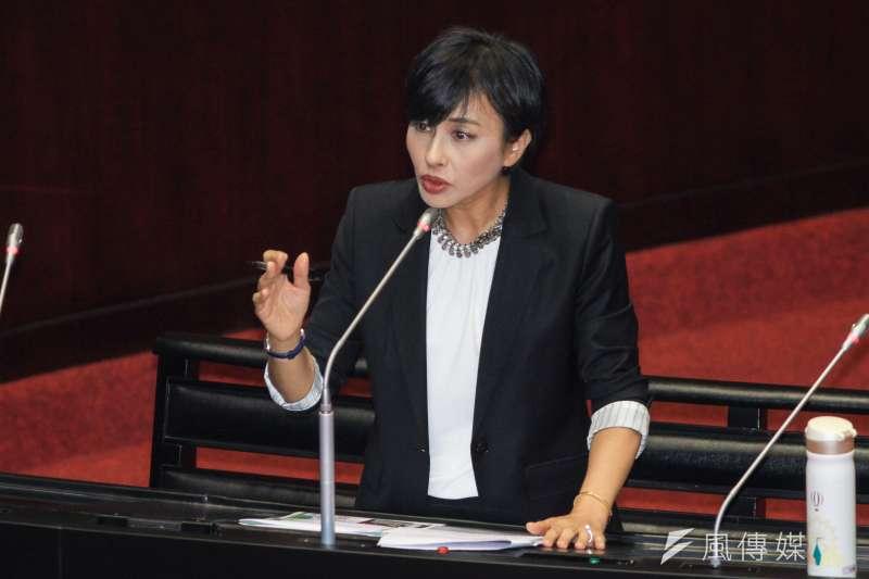 20191004-立委邱議瑩出席立院9屆8會期質詢。(蔡親傑攝)
