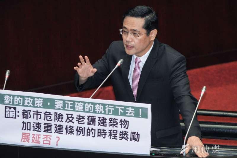 20191004-立委江永昌出席立院9屆8會期質詢。(蔡親傑攝)