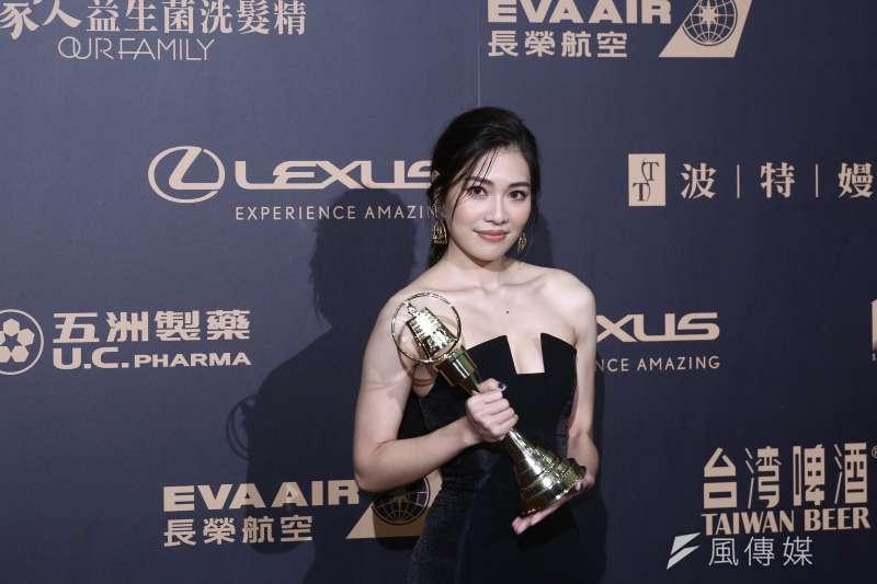 20191005-金鐘獎迷你劇集電視電影新進演員獎得主梁湘華。(陳品佑攝)