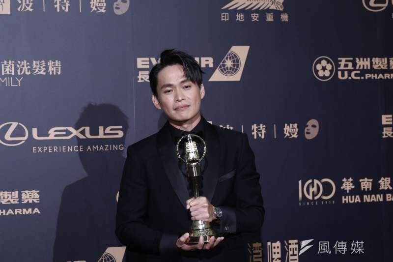 20191005-金鐘獎迷你劇集電視電影男配角獎得主黃鐙輝。(陳品佑攝)