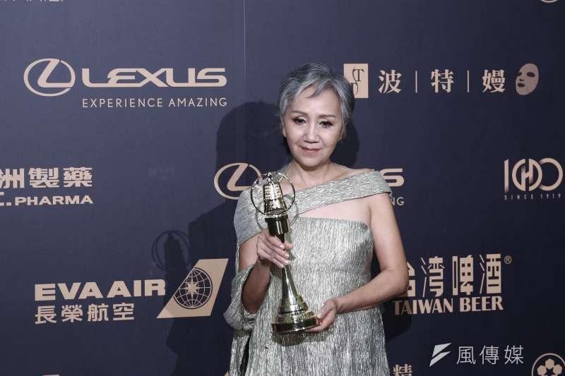 20191005-金鐘獎迷你劇集電視電影女配角獎得主陸亦靜。(陳品佑攝)
