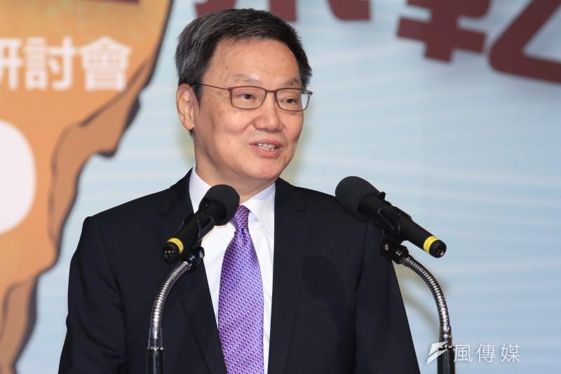 前國安會秘書長蘇起4日出席馬英九基金會舉辦「台灣的國安問題研討會」,並進行專題演講。(蔡親傑攝)