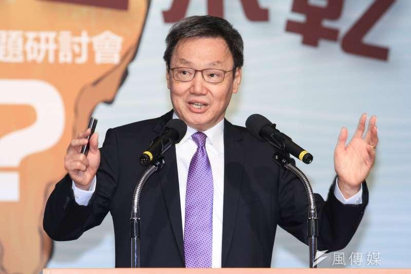 前國安會秘書長蘇起提出兩岸起動山搖的「五個如果」說。。(蔡親傑攝)