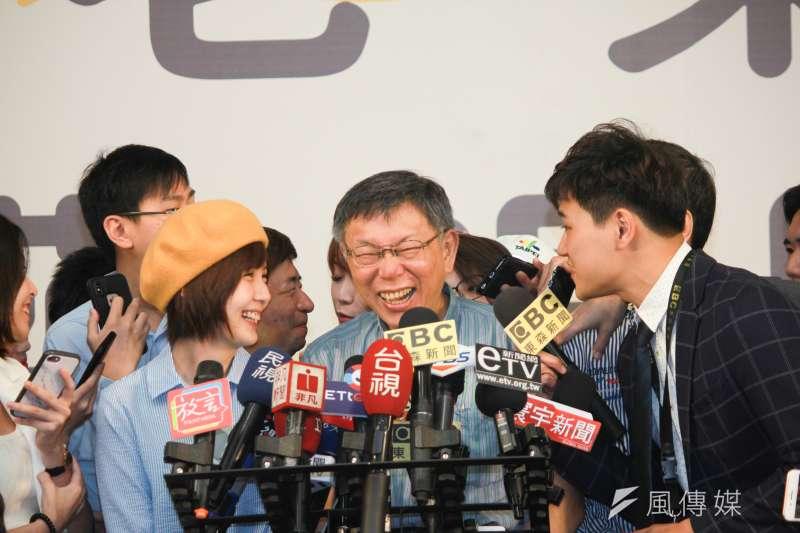 台北市長柯文哲也有看不到的政治盲點。(方炳超攝)