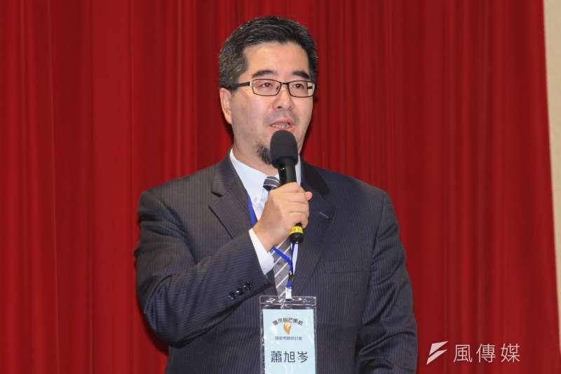 馬英九基金會執行長蕭旭岑表示,大多數台灣人都支持與美國維持良好親近關係,但希望不要只是「口惠而實不至」。(資料照,蔡親傑攝)