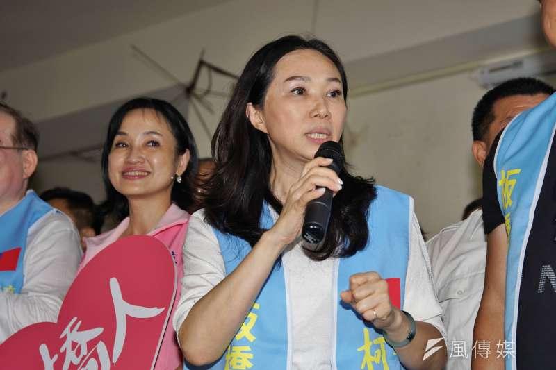20191006-李佳芬為新北立委參選人柯志恩輔選。(盧逸峰攝)