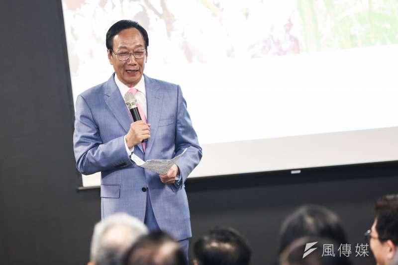 鴻海創辦人郭台銘退出總統初選,但依舊維持政治能量。(簡必丞攝)