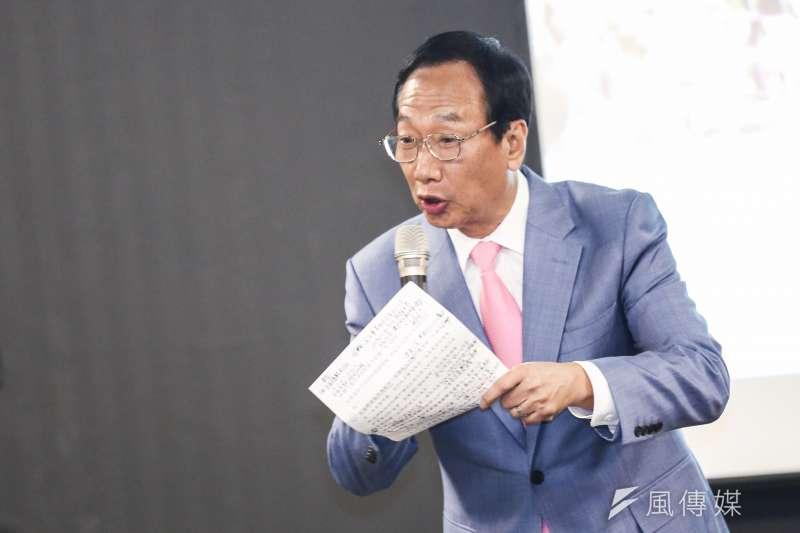 鴻海創辦人郭台銘(見圖)6日出席長風基金會前台東縣長黃健庭專題演講活動。(簡必丞攝)