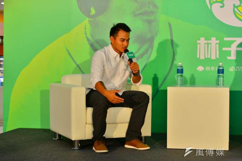 林子偉在8月底因腦震盪錯過擴編機會,他在受訪時也談演失落之情。 (金茂勛攝)