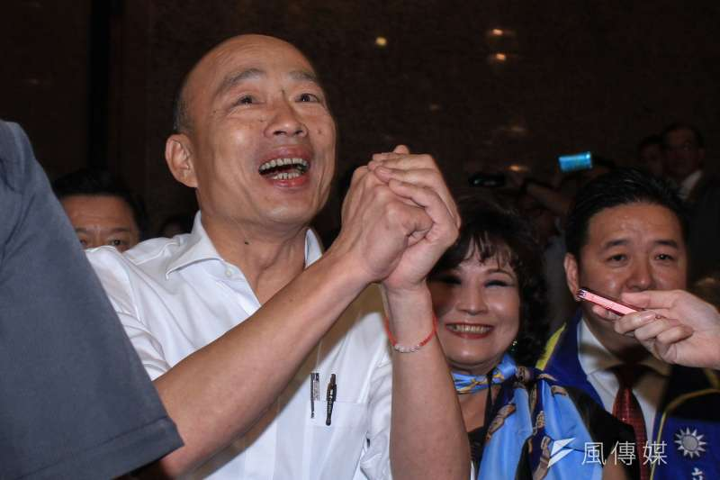 國民黨總統參選人韓國瑜(見圖)將自16日展開「全台傾聽之旅」,全力投入選戰。(資料照,蔡親傑攝)