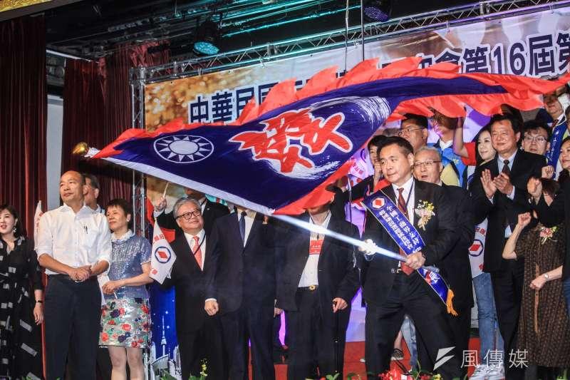 工商建設研究會舉辦之「全國工商界支持韓國瑜競選總統後援會」成立大會。(蔡親傑攝)