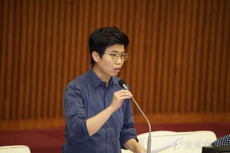20191009-台北市議員苗博雅出席市議會質詢。(盧逸峰攝)