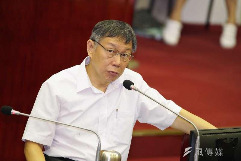 20191009-台北市長柯文哲於市議會備詢。(盧逸峰攝)