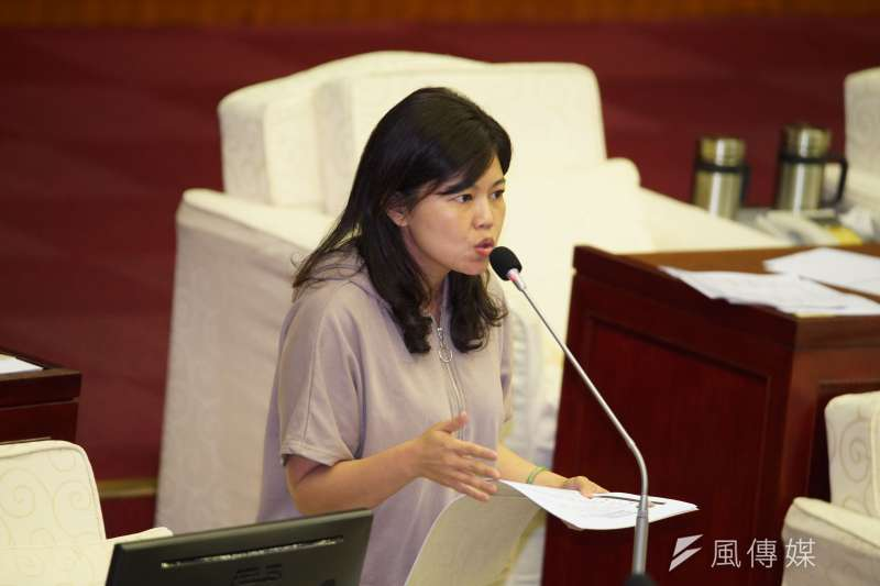 20191009-台北市議員游淑慧質詢。(盧逸峰攝)