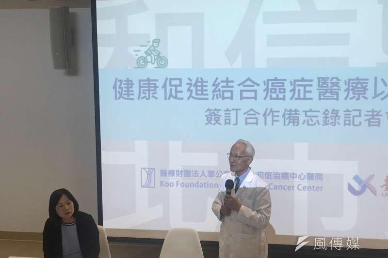 院長黃達夫表示,癌症防治的策略除早期診斷、正確治療外,更應改變生活型態,減少健康危險因子。(圖/鄭夢華攝)