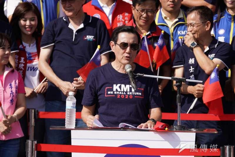 20191010-前總統馬英九出席「愛國旗、愛國家、慶雙十」活動。(盧逸峰攝)