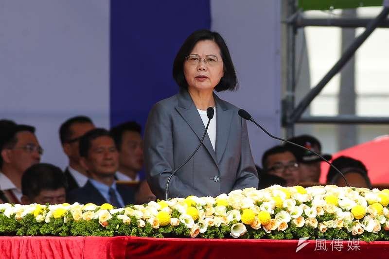 20191010-總統蔡英文10日出席中華民國108年國慶大會。(顏麟宇攝)