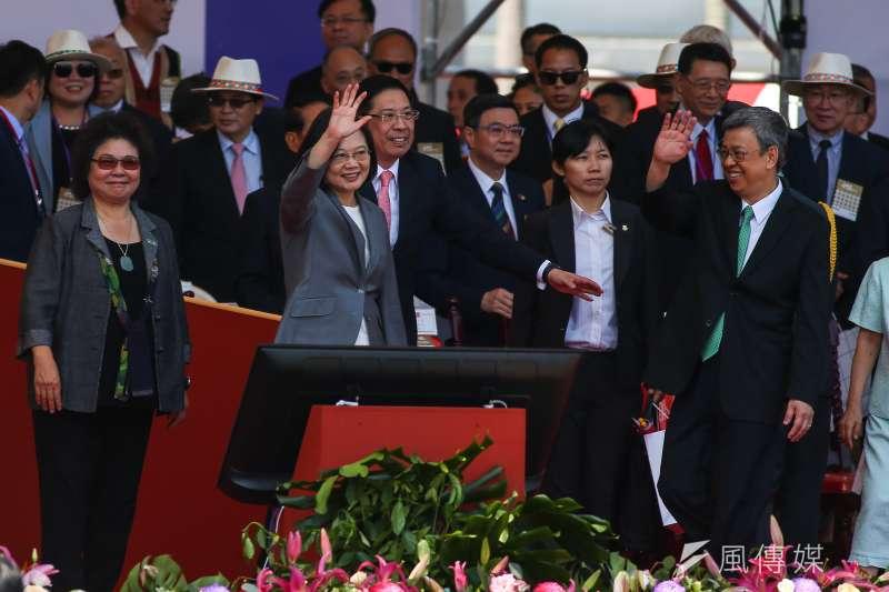 總統蔡英文國慶講話,提出「中華民國台灣」。(顏麟宇攝)
