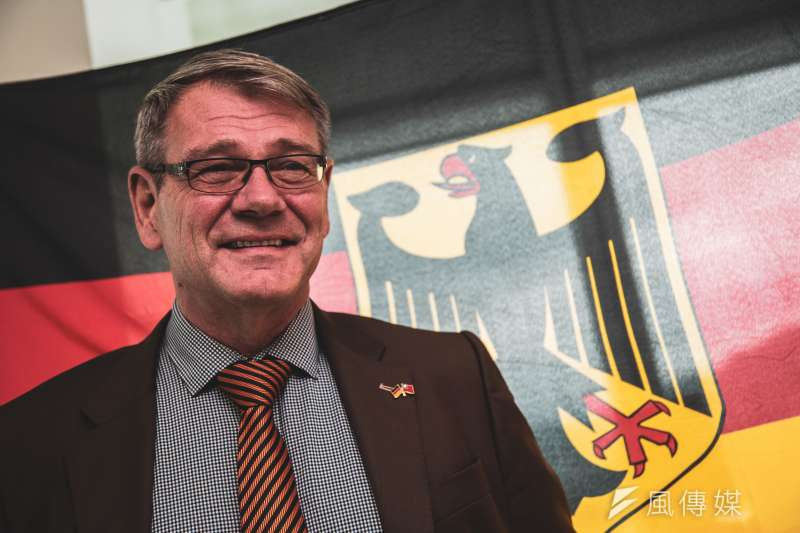 德國駐台代表王子陶。(簡必丞攝)