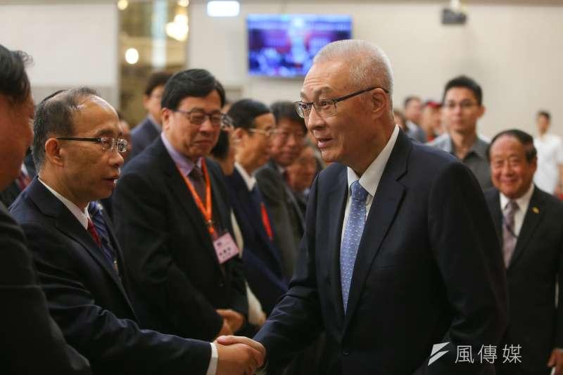 20191012-國民黨主席吳敦義12日出席第67屆華僑節大會。(顏麟宇攝)
