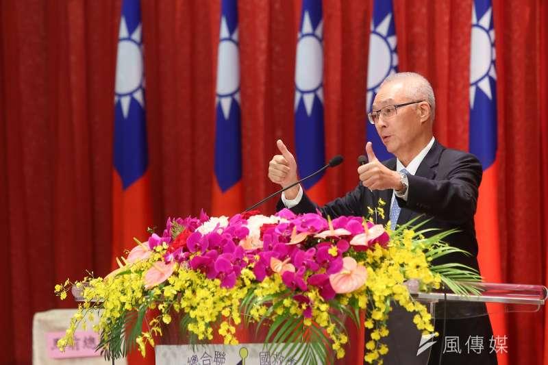 國民黨主席吳敦義卯足全力拚大選,但要把自己納入不分區立委名單,黨內有不同意見。(顏麟宇攝)