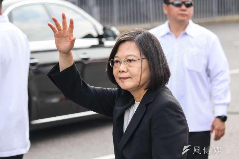 20191013-蔡英文總統出席於凱道舉行之史明追思會。(蔡親傑攝)
