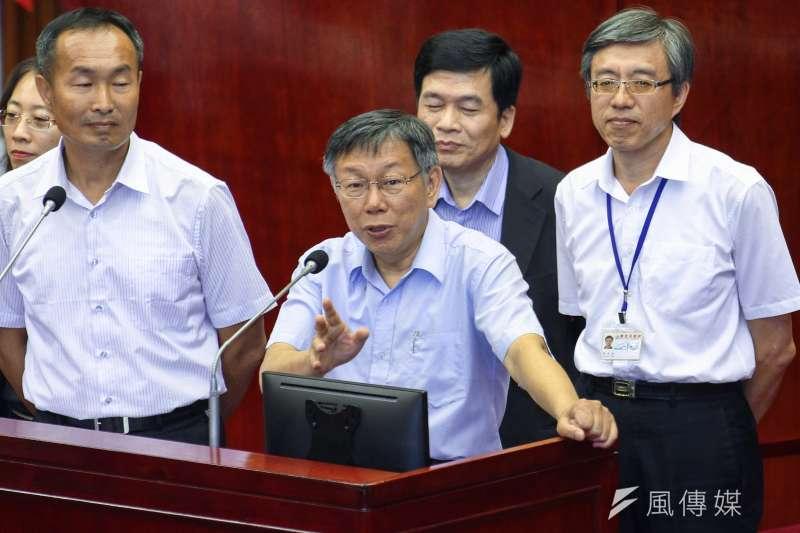 20191014-台北市長柯文哲出席市議會2之6會議備詢。(蔡親傑攝)